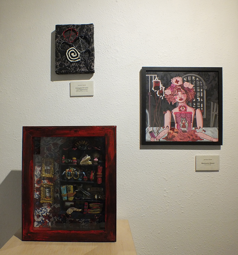Entangled Dreams and Nightmares, Marionette Minuet, and Wunderkammer - Mixed Media