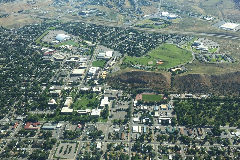 Aerial view of ISU Campus