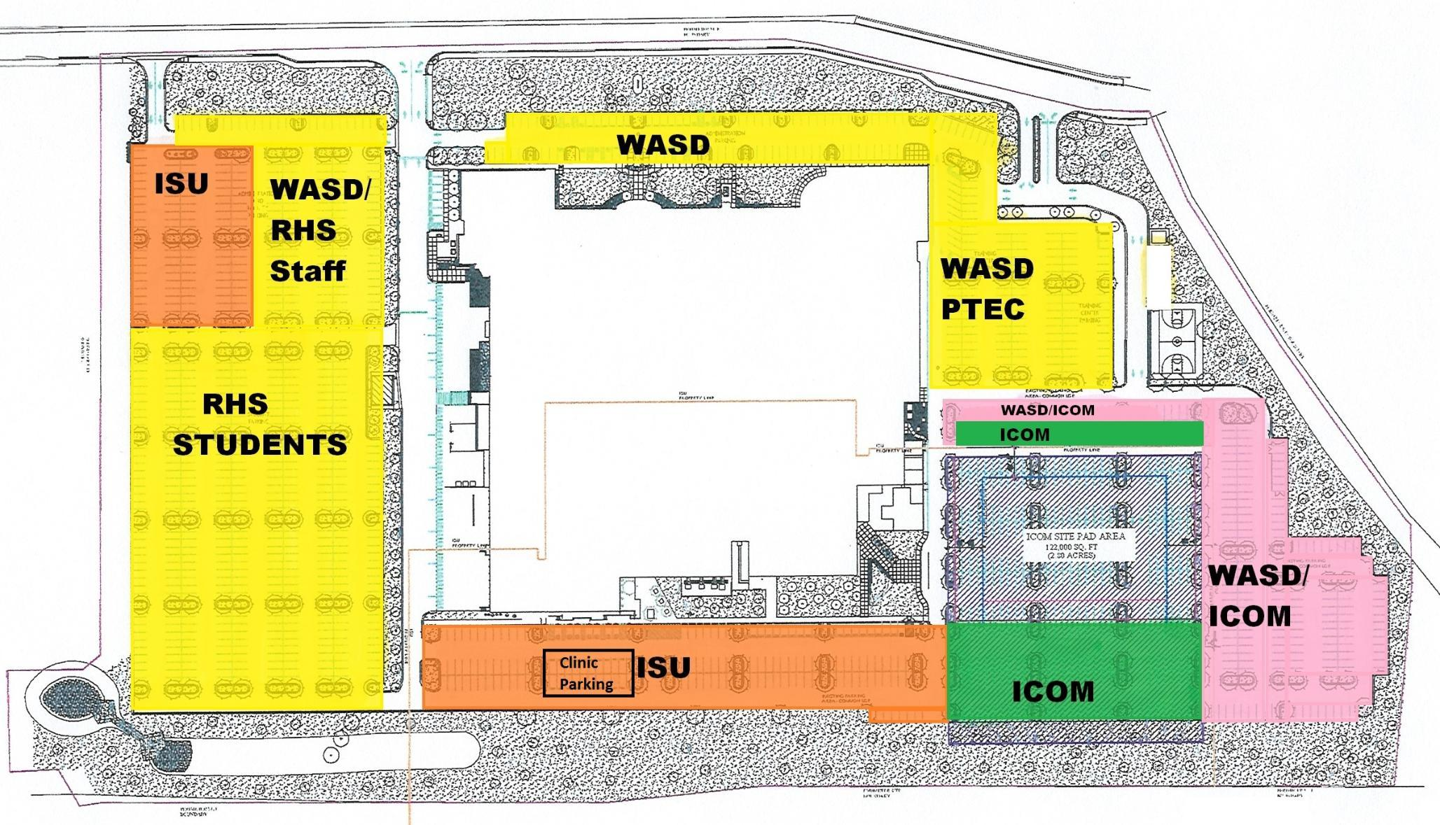 Meridian Clinic Parking Map