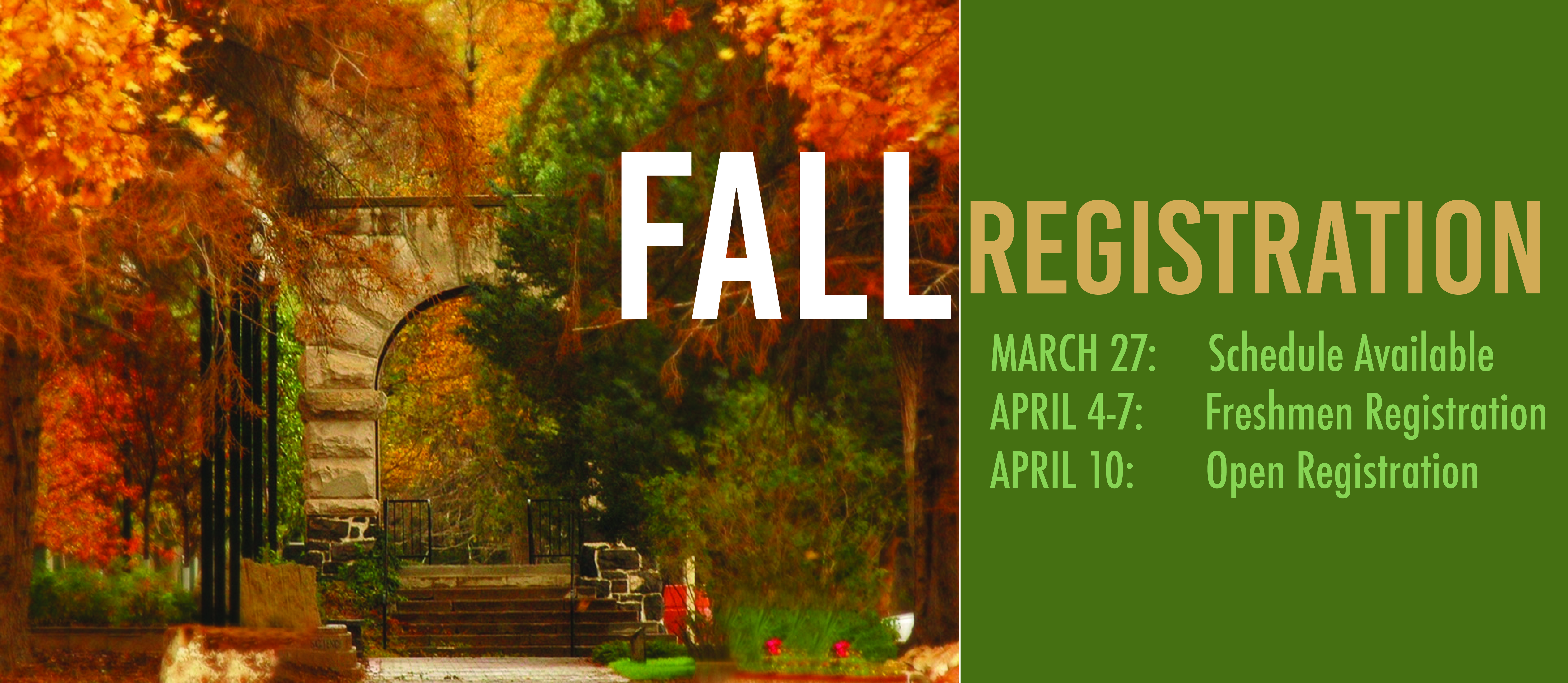 fall registration
