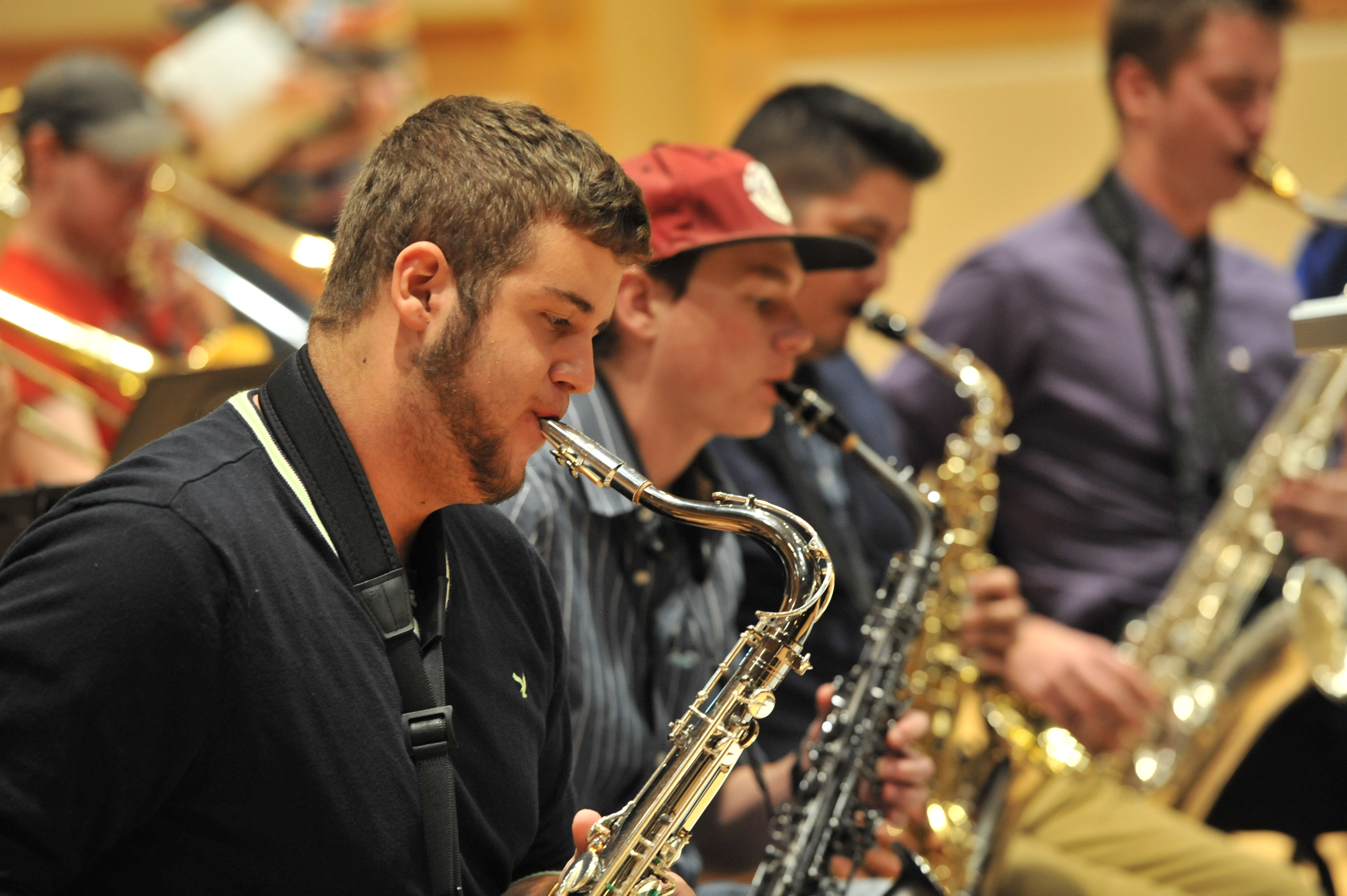 ISU jazz students