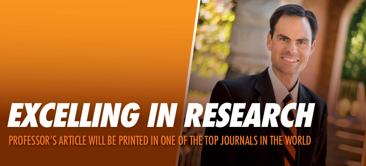 Professor's article will be published in top journal.