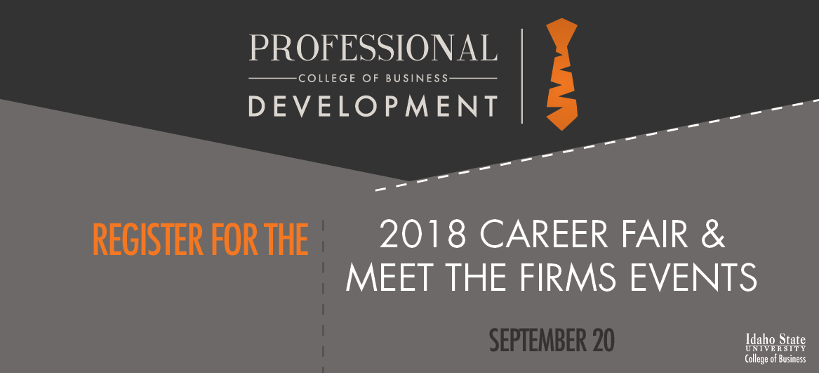 Register for the 2018 Career Fair & Meet the Firms Events