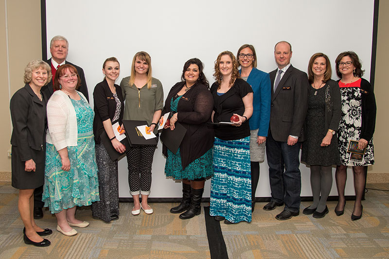 Student teacher program participants and end of year ceremony