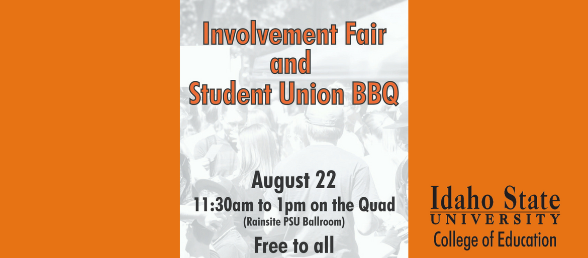 flyer for student involvement fair with orange background