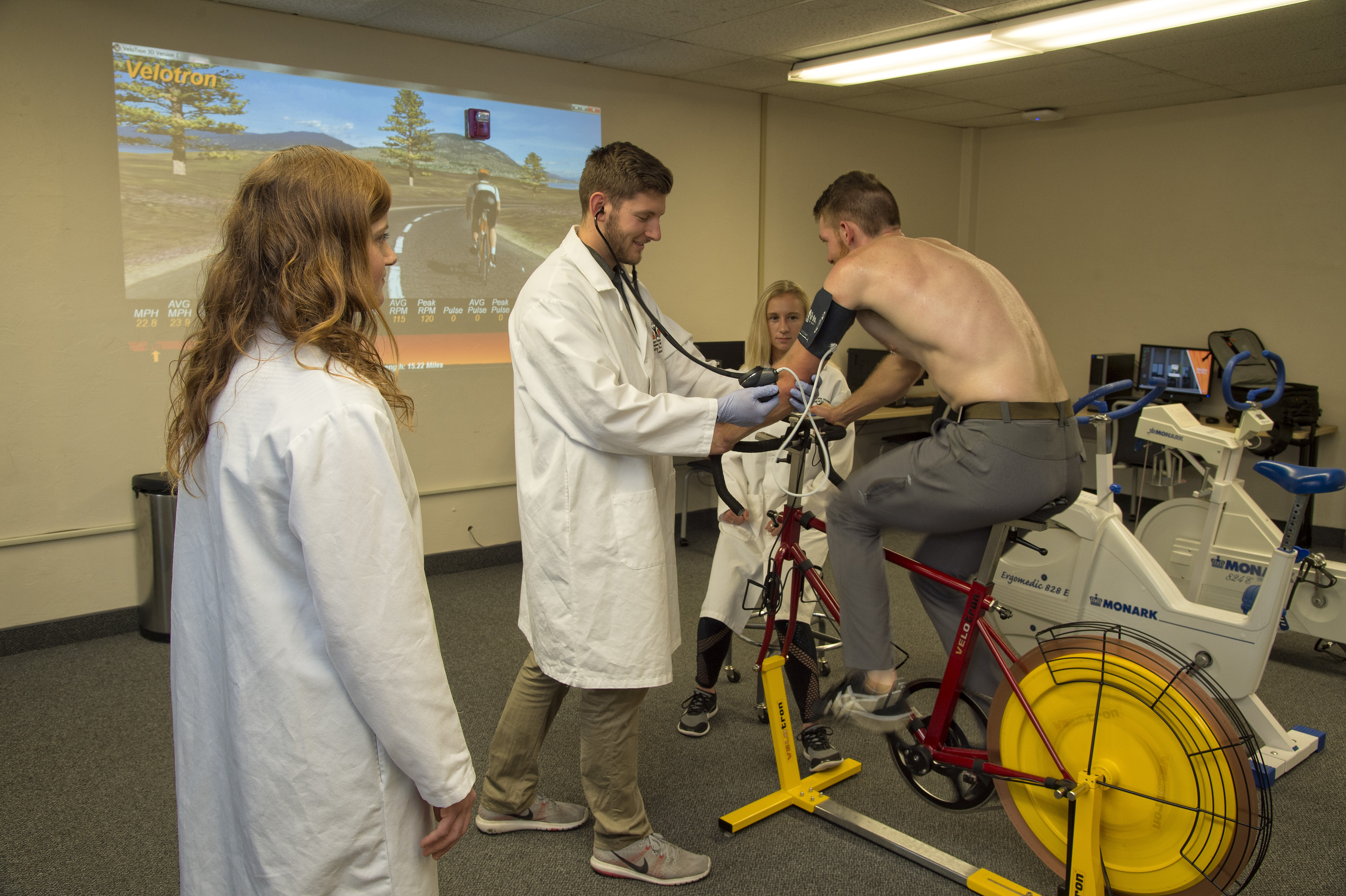 Exercise science on bike