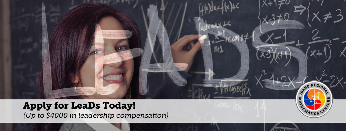 Math Leads Slider, Apply or nominate someone today, up to $4000 in leadership compensation!