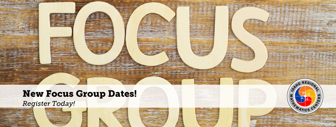 Focus Group Slider, New Focus Group Dates, Register today