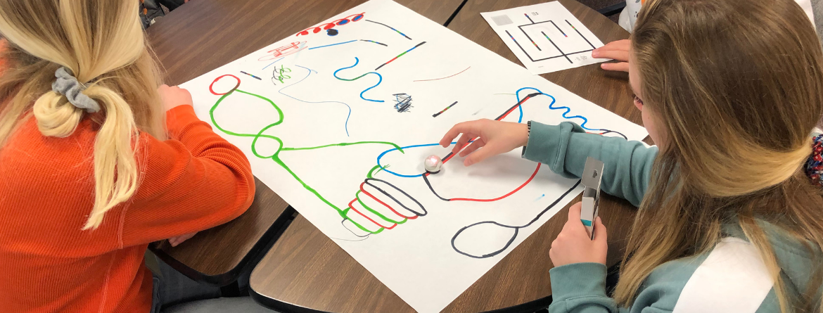 Girl with ozobots