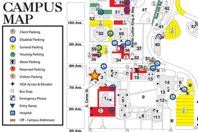 Campus map of ISU