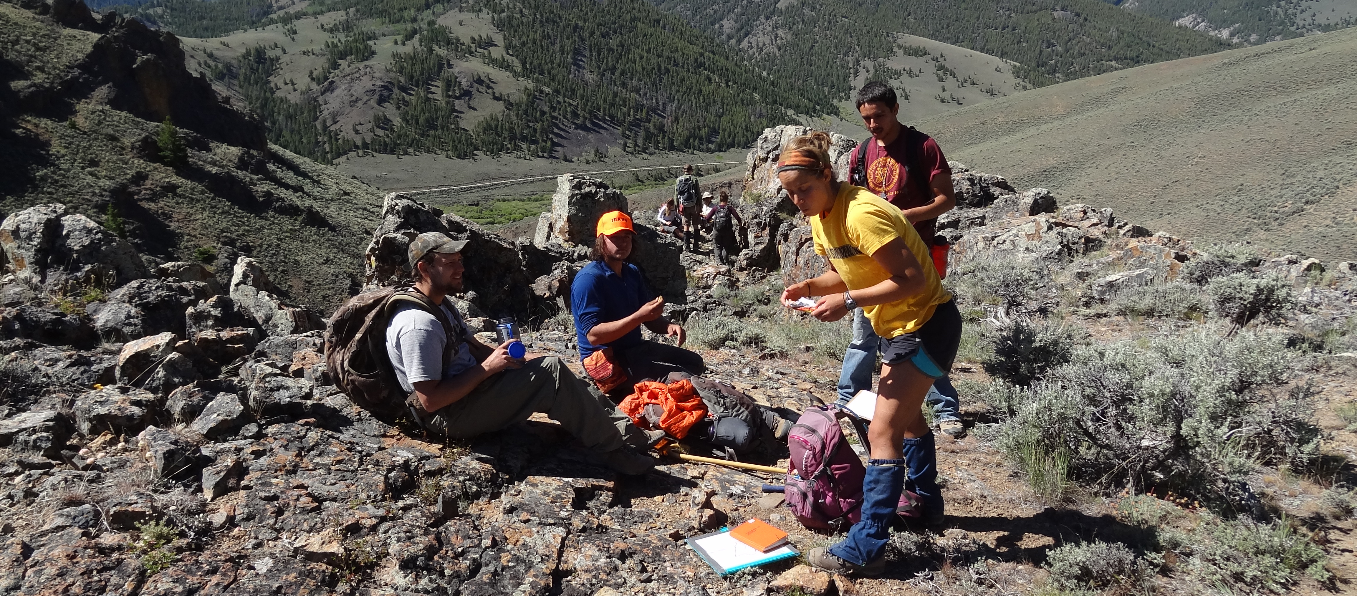 Geology Students at Field Camp