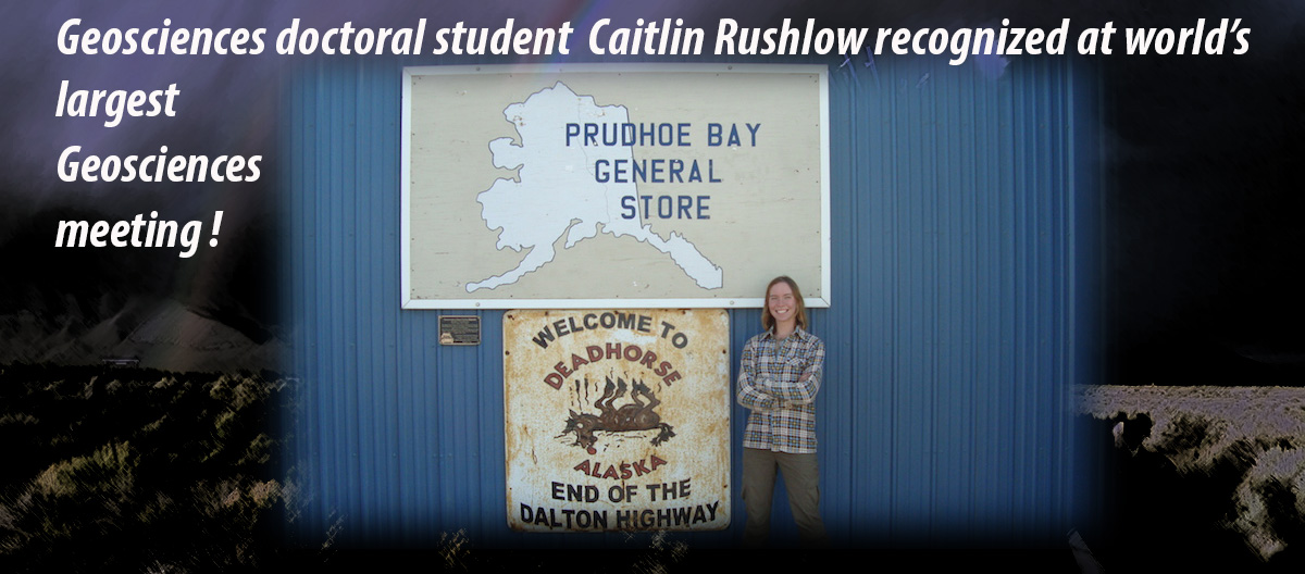 Caitlin in Prudhoe Bay Alaska doing research