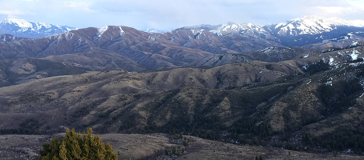 View of the mountians from Gibson Jack Area