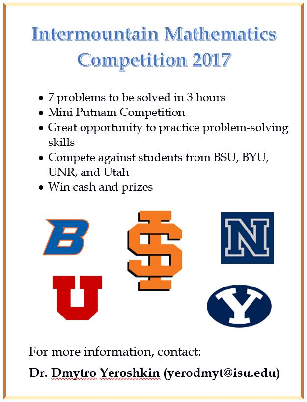 Intermountain Math Competition 2017