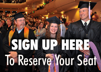 Sign up here to researve your seat for graduation