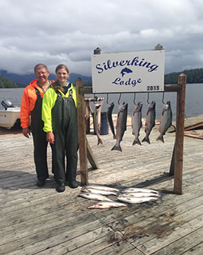 David and his daughter Abby salmon fishing in Alaska in 2015