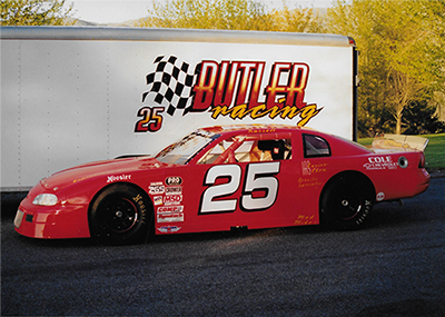 Photo of Russ Butler's race car