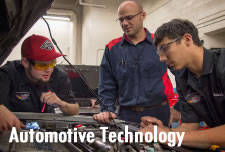 Automotive Technology Students working in Lab