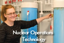 Nuclear Operations Technology Student in lab