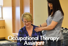 Occupational Therapy Assistant Students in lab