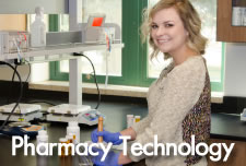 Pharmacy Technology Student in Lab