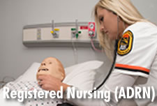 Registered Nursing (ADRN) student in SIM Lab