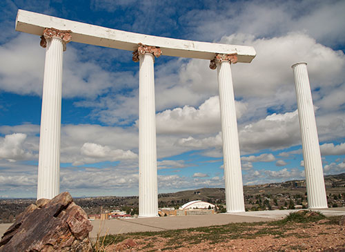 Pillars on Red Hill