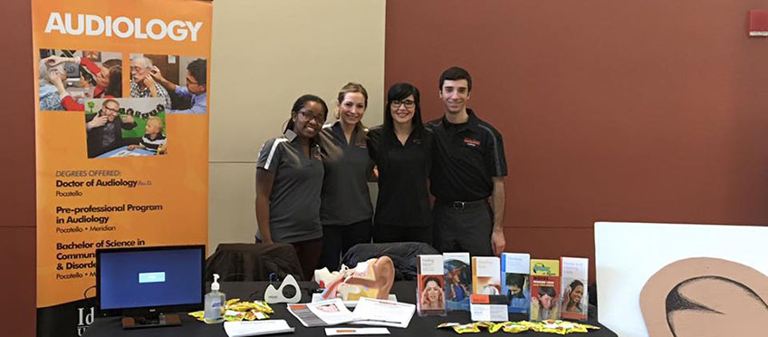 Audiology students at Healthy Bengals fair
