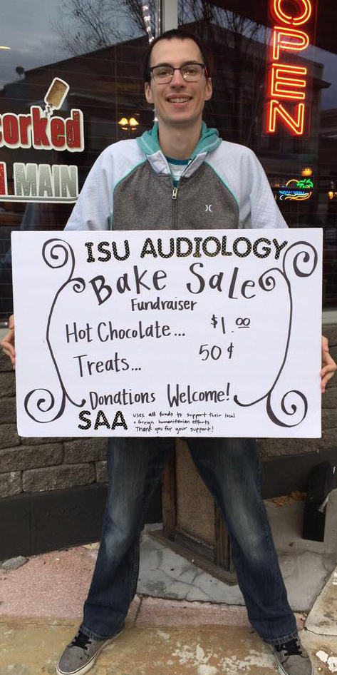 Students have a bake sale fundraiser.