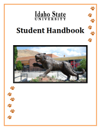 Cover of the ISU student handbook