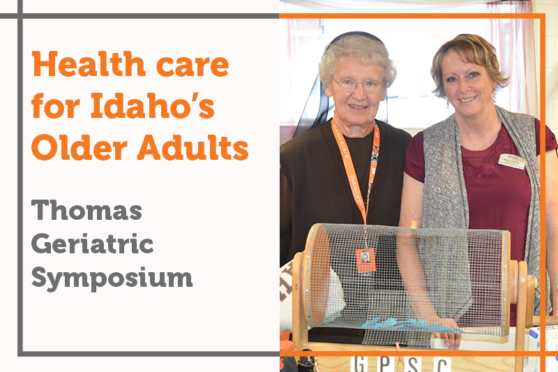 Sister Anthony Marie and Penny at the 2019 Thomas Geriatric Symposium