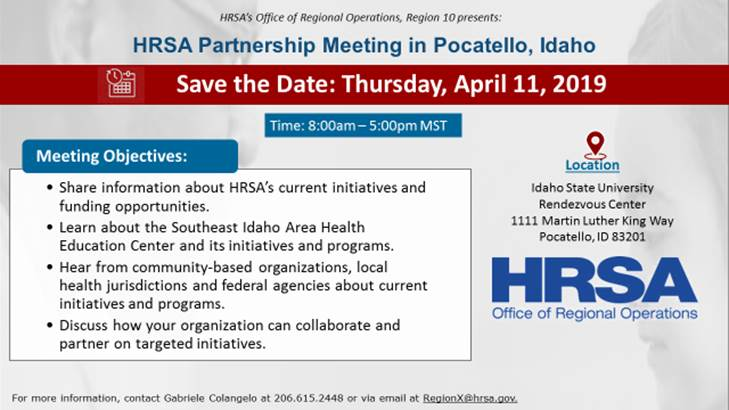 Flyer for HRSA Partnership Meeting