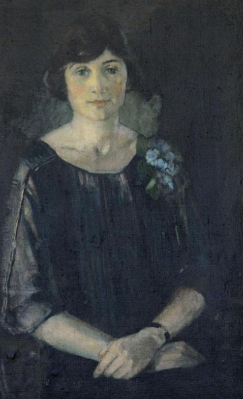 Very old portrait of Eva Kasiska