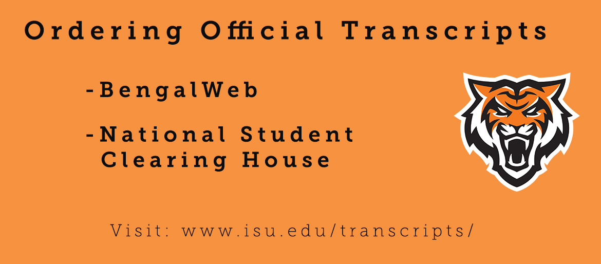 Information about where to request an ISU transcript