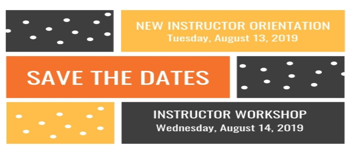 Reminder Dates for instructor workshops