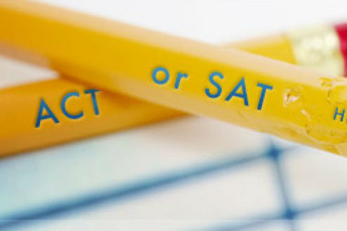 pencils with ACT or SAT