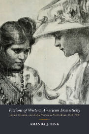book cover showing two women looking at each other- one indian and one anglo