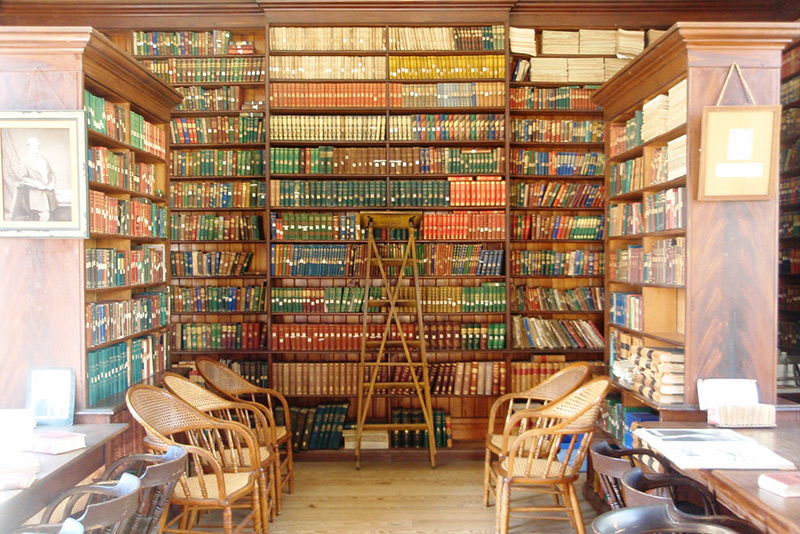 A library reading room