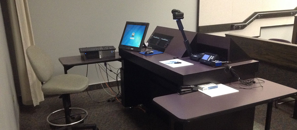 Terminal for classrooms with AV equipment
