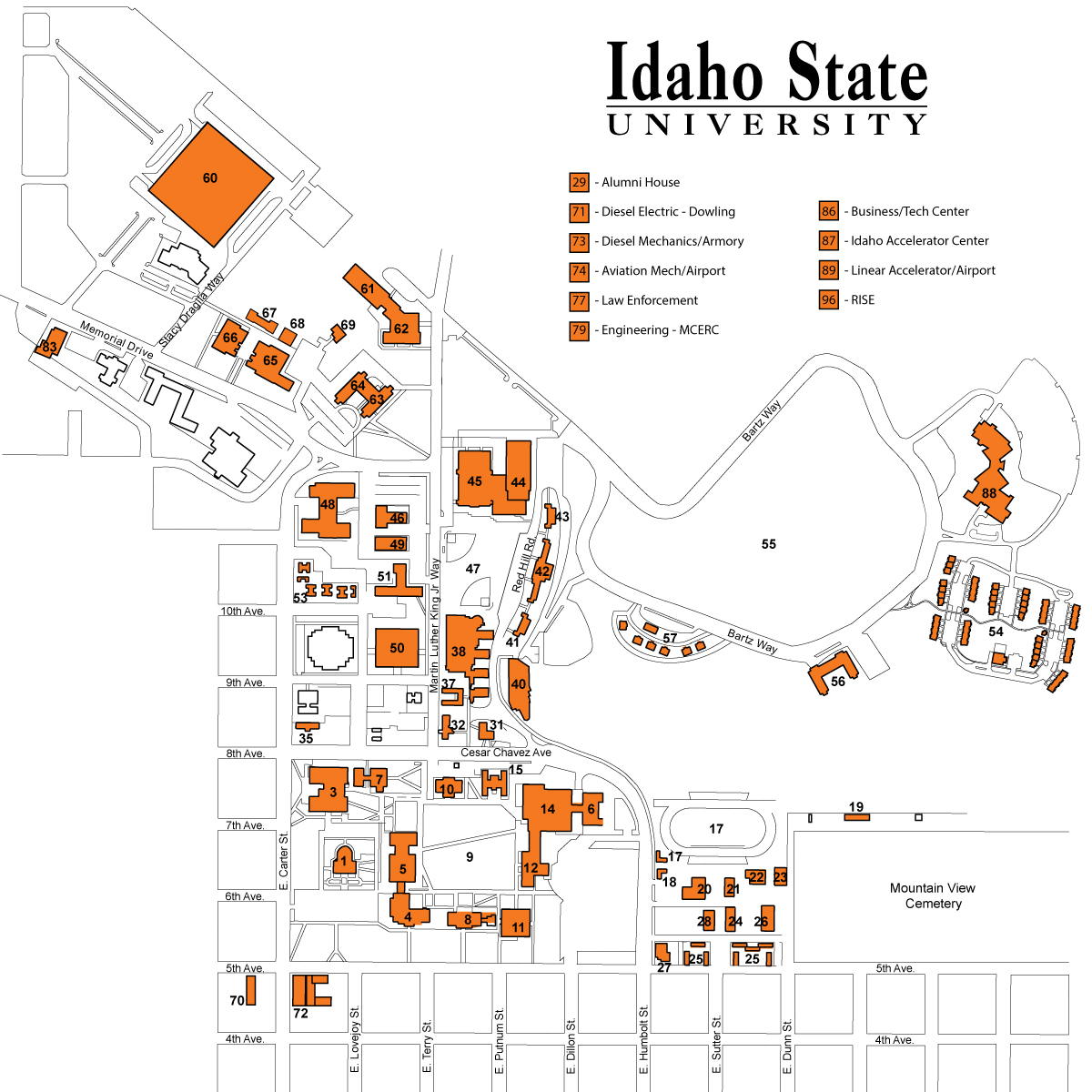 Interactive Construction Map | Idaho State University