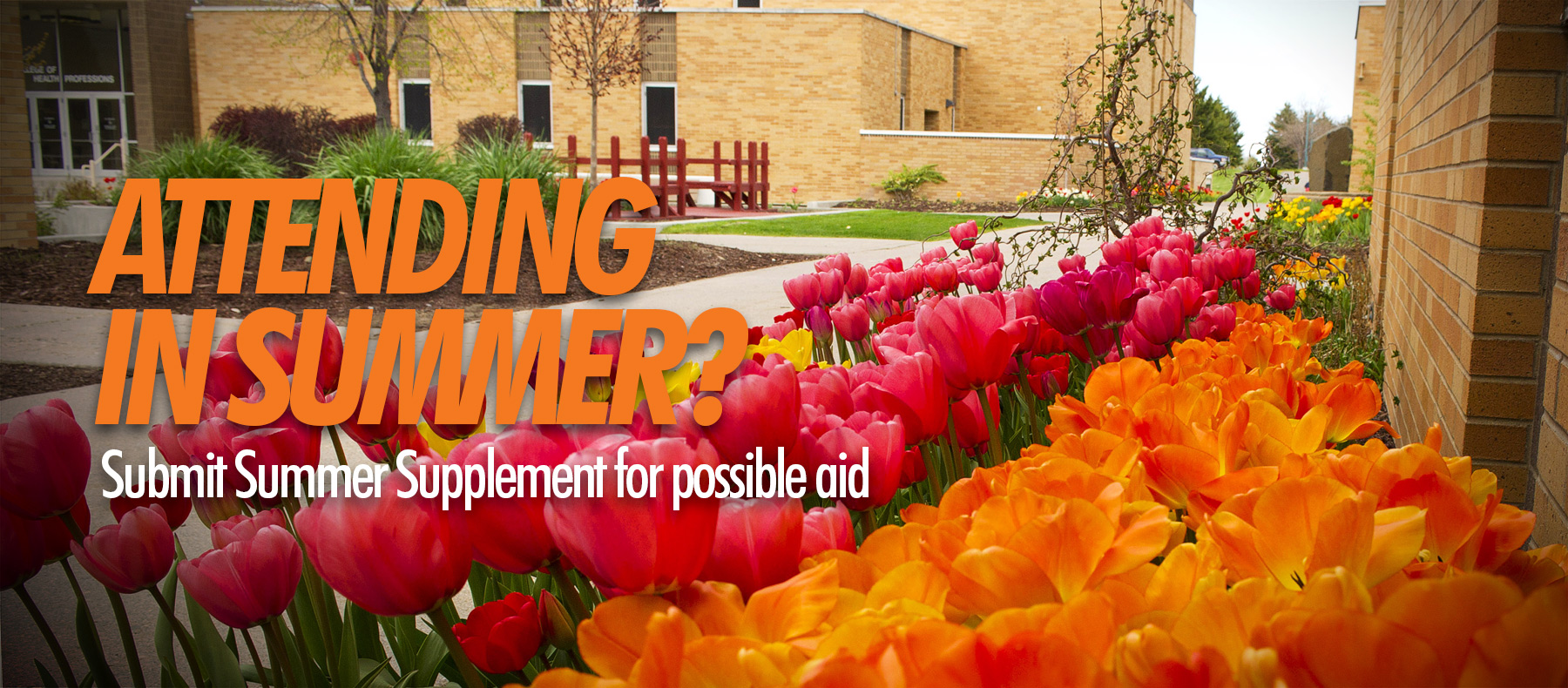 Summer flowers and ISU buildings