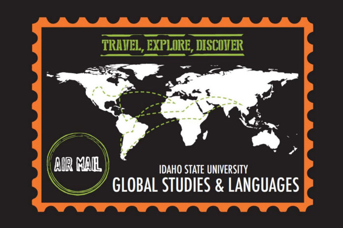 The logo for the global studies and languages departments