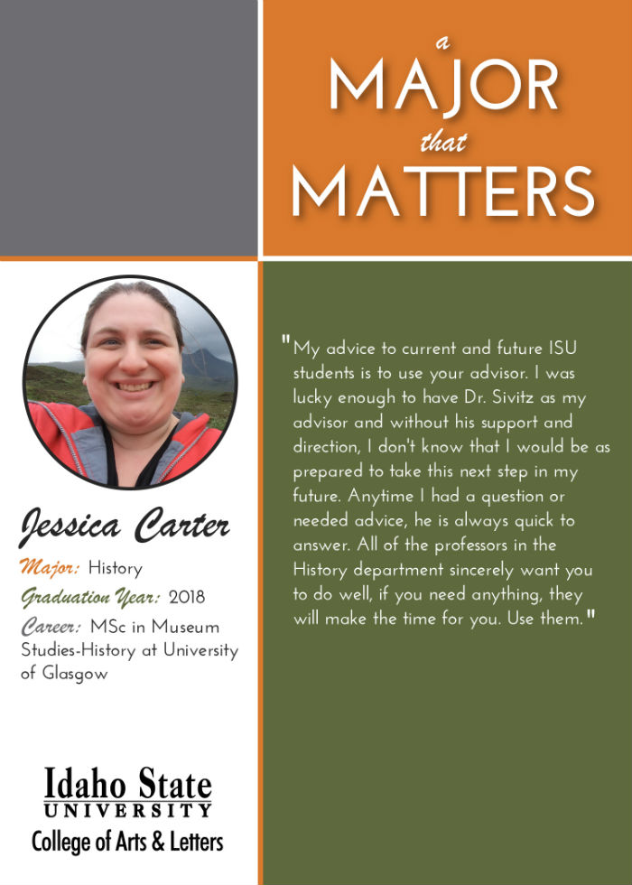 Profile of history major Jessica Carter: