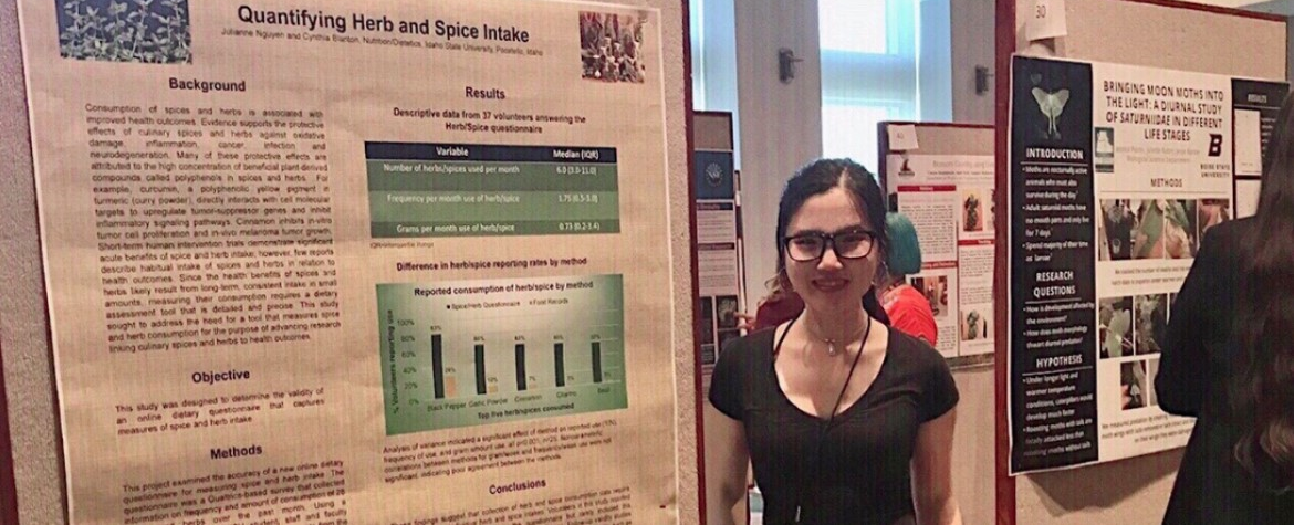 Dietetics major Julianne Nguyen presents at Idaho Conference on Undergraduate Research