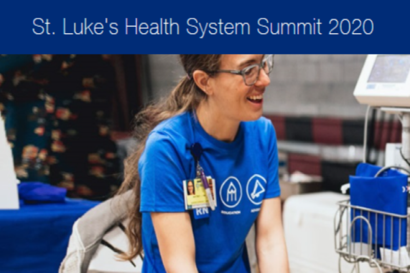 Ad for St Lukes Healthcare Summit 2020