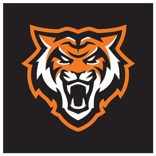 2-color Bengal logo with orange stroke