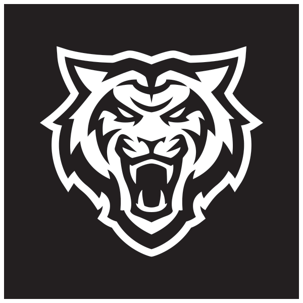 Reversed Bengal head Logo in White