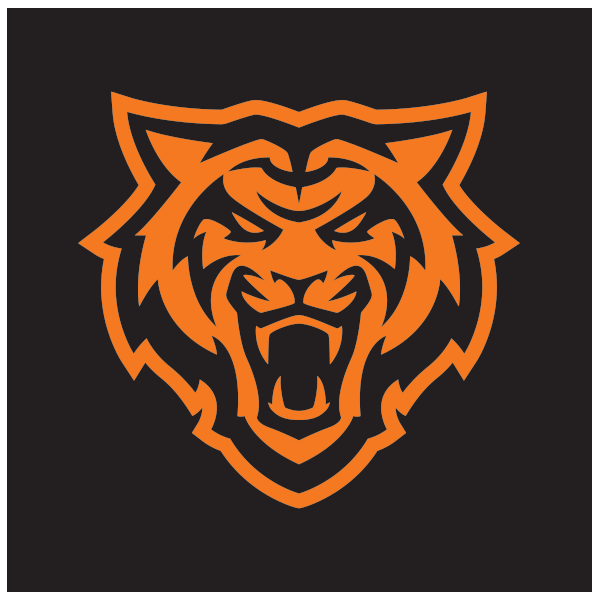 Reversed Bengal head Logo in Orange