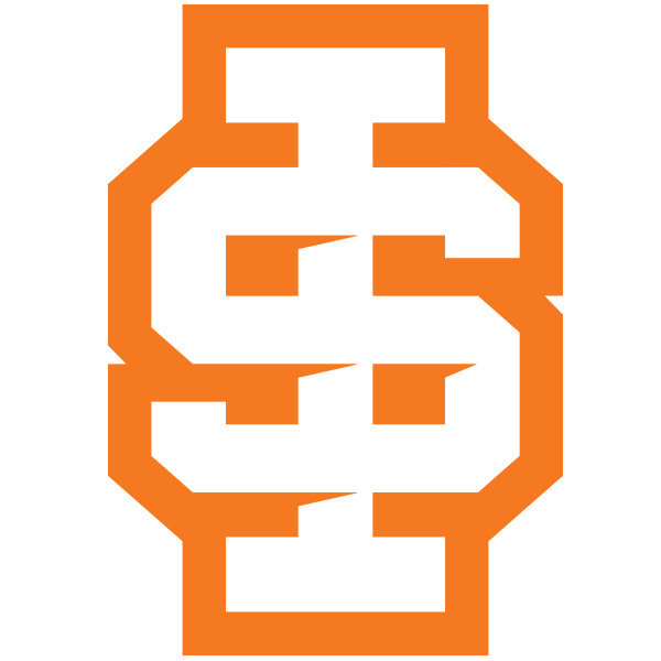 ISU spirit mark with stroke orange and white