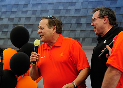 President Vailas at Welcome Back Orange and Black event